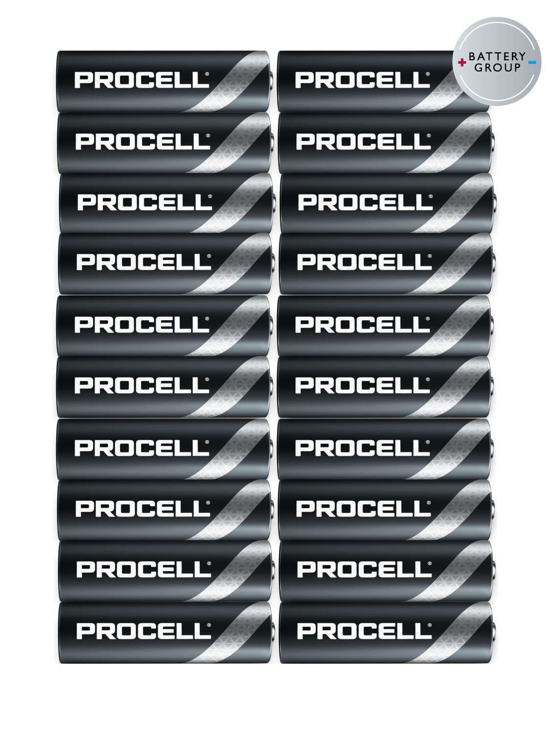 20 Pack Duracell Industrial NOW PROCELL AA Batteries Alkaline MN1500 Exp 2026 3