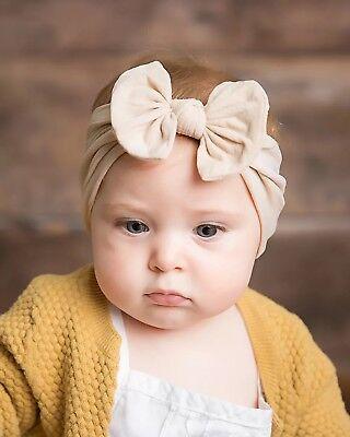 Baby Nylon Soft Bow Head Wrap Turban Top Knot Headband Newborn Girl Accessories 7