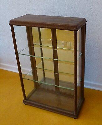 Vitrine Glas Holz Verkaufsvitrine Kolonialwaren Tante Emma Laden um 1900 5