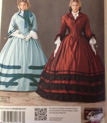 SIMPLICITY 4510 Misses Civil War Wedding Day Gown 8-14