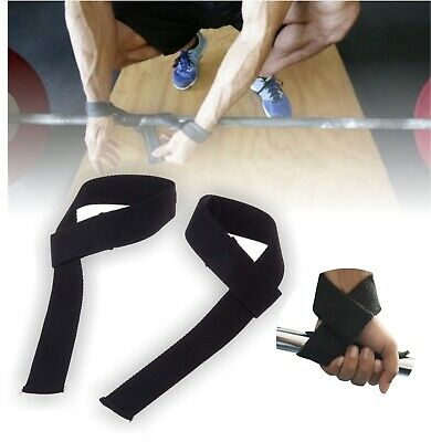 Padded Weight Lifting Training Gym Straps Hand Bar Wrist Support Gloves Wraps 5
