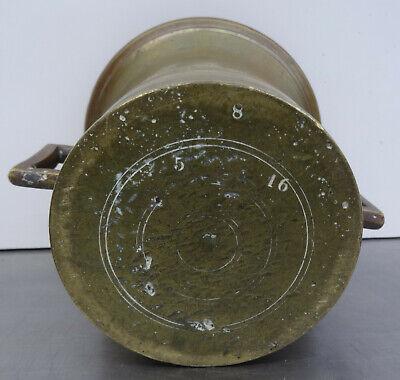 Antiker schwerer Bronze Mörser mit Pistill - Apotheker Gefäß mit Stößel 5