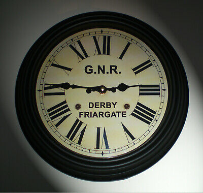 Great Northern Railway GNR Victorian Style Clock, Derby Friargate Station 3