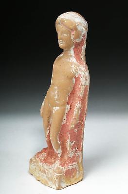 Greek Canosan Polychrome Statue of Nude Male Lot 27C