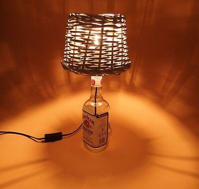 JimBeam - Flaschen Lampe Tischlampe LED 220V mit Schalter SEHR ORIGINELL S1-Korb 4