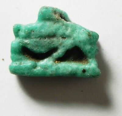 ZURQIEH -as14419- ANCIENT EGYPT,  FAIENCE SOW AMULET. 600 - 300 B.C 2