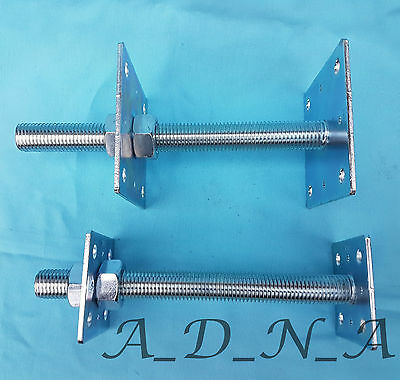 Heavy Duty Galvanised Elevated Adjustable Bolt Down Post Fitting Support / Base 6
