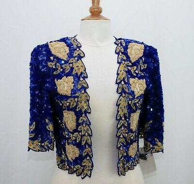 Jasdee Vintage Bolero Jacket HandWork Bead Sequins & Zari Emroidery On Silk 5011 3