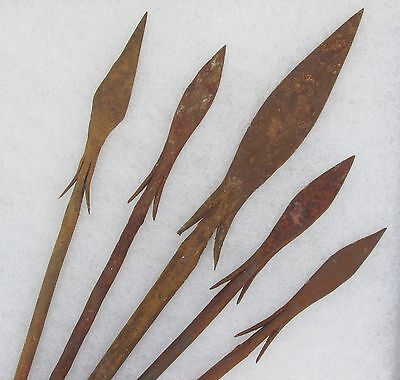 5 Iron Age Bura Culture Spear Points framed spears arrowheads arrows Africa OLD!