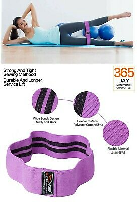 EVO Fabric Resistance Bands Butt Exercise Loop Circles Set Legs Glutes Women 5