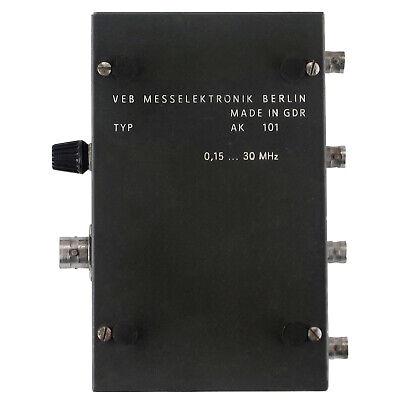 0.15-30MHz AK 101 AK101 Junction Box GDR RFT MESSELEKTRONIK 6