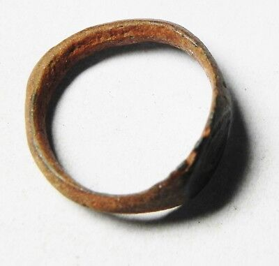 Zurqieh-As9460- Ancient Holy Land. Bronze Ring, Byzantine Or Earlier. 500 A.d 3