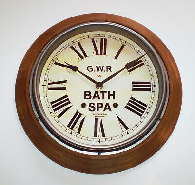 Great Western Railway GWR Victorian Style Wooden Clock, Bath Spa Station 3