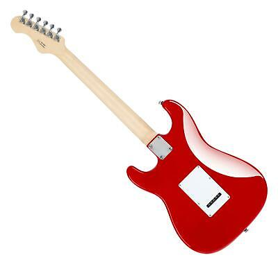 Guitare Electrique Strato ST-Style Single Coil Tremolo 22 Frettes Cutaway Rouge 2