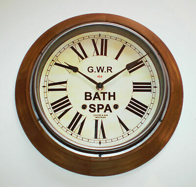 GWR Railway Clock, Victorian Style Wooden Surround Clock, Dial Made to Order. 5