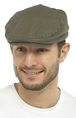 Tom Franks Mens Waxed Flat Cap with Tartan Lining 3