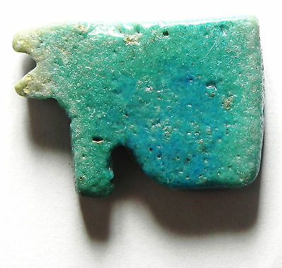 Zurqieh - Sc469- Ancient Large Faience Eye Of Horus Amulet, 1075 - 600 B.c 2