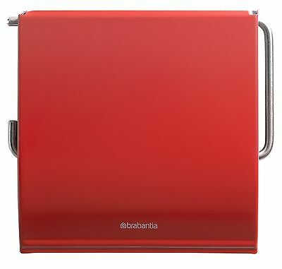 brabantia WC Bad Set Toilettenbürste Klopapierhalter Passion Red Klobürste