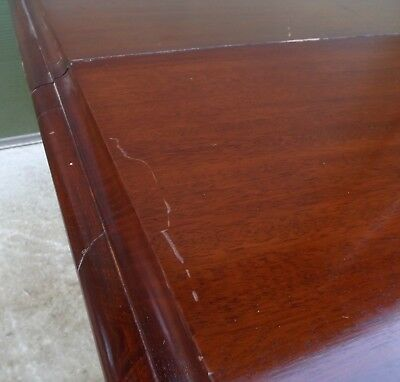 Antique Victorian Mahogany Pull-Out Extending Dining Table with One Leaf 7