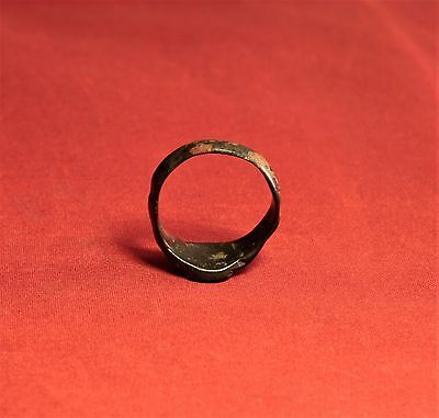 Nice Medieval Knigth's Seal Ring. 13. Century, Rooster Seal