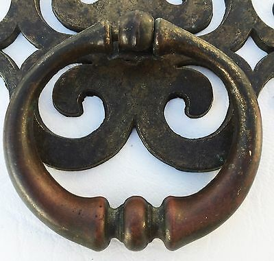 Brass Antique Hardware MCM French Provincial Drawer Ring Pull Cabinet Knob
