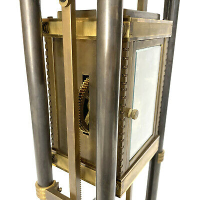 French Style Falling Gravity Driven Bronze Industrial Elevator Industrial Clock 9
