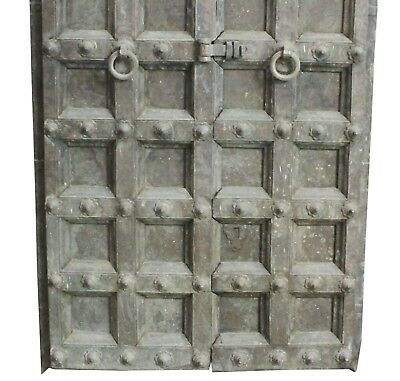 Door Vintage Black Heavy Wooden Rare Collectible Home Decor Art US257WH