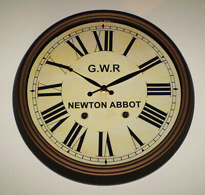 Great Western Railway GWR Victorian Style Clock, Newton Abbot Station 3