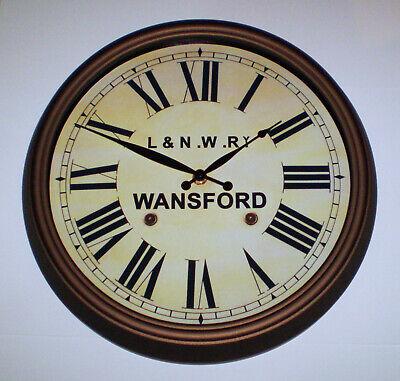 London & North Western Railway Victorian Style Clock, L&NWR Wansford Station 2