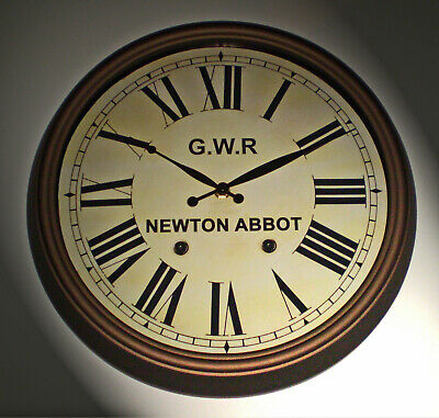 Great Western Railway GWR Victorian Style Clock, Newton Abbot Station 2