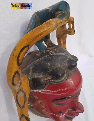 POWERFUL Polychrome Guro Baule Mask Figure Sculpture Statue Fine African Art 10