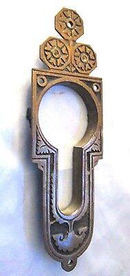 Antique BRASS DOOR ESCUTCHEON PLATE -Decorative, Unique 5