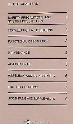 Cincinnati Milacron 10VC 10VC 1000 1250 2000 Machine Center Service Manual 1978