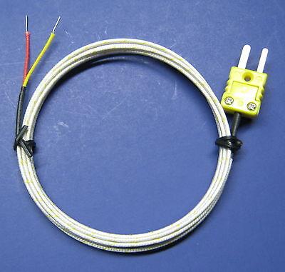 Very High Temperature k-type Thermocouple Sensor Ceramic wi mini plug cable CR6