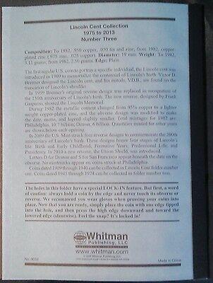 Whitman Lincoln Cents Vol. #3 1975-2013 Coin Folder, Penny Album Book # 9033 5
