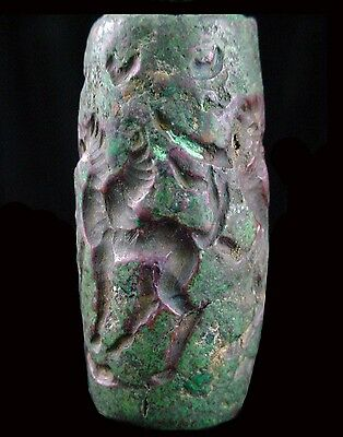 Superb large Bactrian copper bead seal Circa 2nd  Millennium B.C.  x9201 4