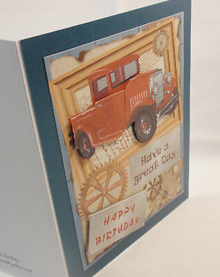 HandmadeBEAUTIFUL 3DCAR LOVERS BIRTHDAY CARDBY D509