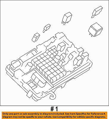 gm oem electrical fuse relay junction block 25888290 2013 malibu fuse box fuse gm box 25888290 #10