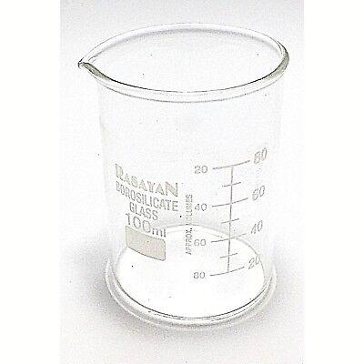 Glass BEAKER Graduated Low Form Research Grade Borosilicate, 6 sizes, 1/5/10 pcs 4