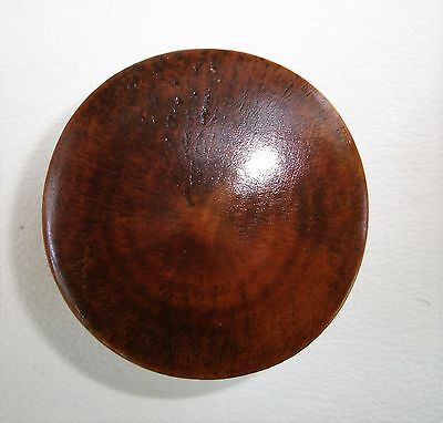 """""""Oyster Grain"""" Antique Hardware  Maple Knob Antique Wood Drawer Pull 1 1/2""""dia. 10"""