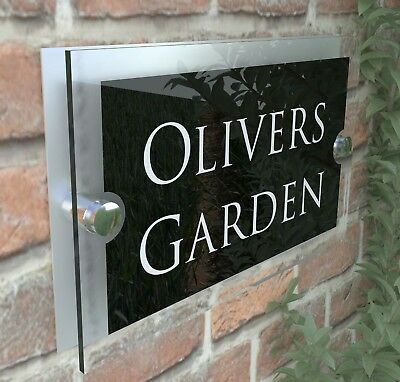 Contemporary House Sign Plaques Door Number 1 - 9999 Personalised Name Plate 9