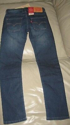 Levi's Boys Blue Wash 510 Skinny Fit Knit Denim Jeans, Size 10 140cm 3