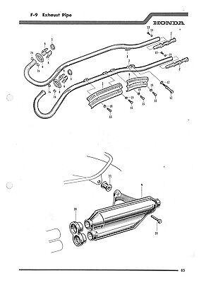Automotive Other Motorcycle Manuals HONDA Parts Manual CA100 C100 ...