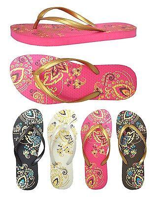 66ffa07252554 ... Wholesale Lot 24 pairs Men~Women~Girls Beach Sandals Flip Flop Flower  Printing 2