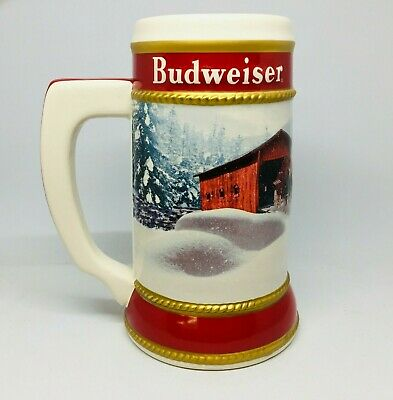 2019 Budweiser Holiday stein beer mug frm annual Christmas series WINTER PASSAGE 2