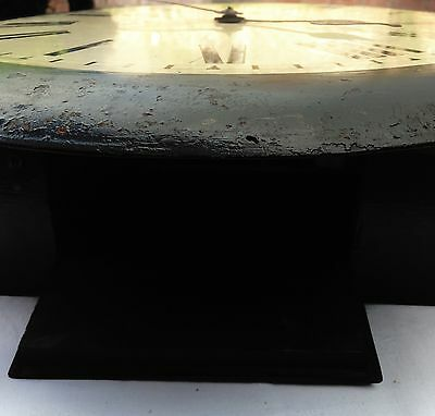 "antique Chain Fusee Dial Clock with an  18""all metal Dial with clen movement 12"