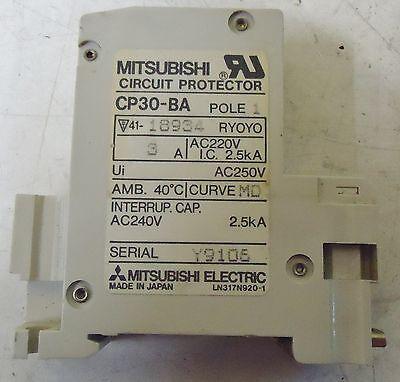 Mitsubishi Circuit Protector Model# Cp30-Ba, Serial# B9110, Made In Japan. 2