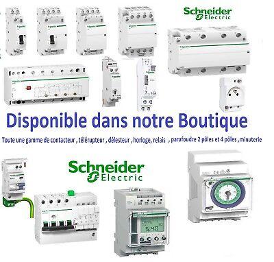 Disjoncteur 1P+N 2A-10A-16A-20A-32A Interrupteur dif A-AC 2x40A-2x63A Schneider 3