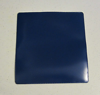TWO NEW NAVY BLUE VINYL CHECKBOOK COVER WITH DUPLICATE FLAP CHECK BOOK COVERS