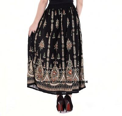 Indian Party Boho Gypsy Tribal Hippie Long Sequin Skirt Rayon Belly Dance Buy 1 Get 1 at 50/% OFF